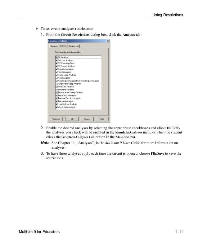 multisim 9 for educators rh slideshare net Multisim Logo multisim user guide 2012