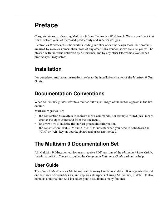 multisim 9 for educators rh slideshare net National Instruments Multisim National Instruments Multisim