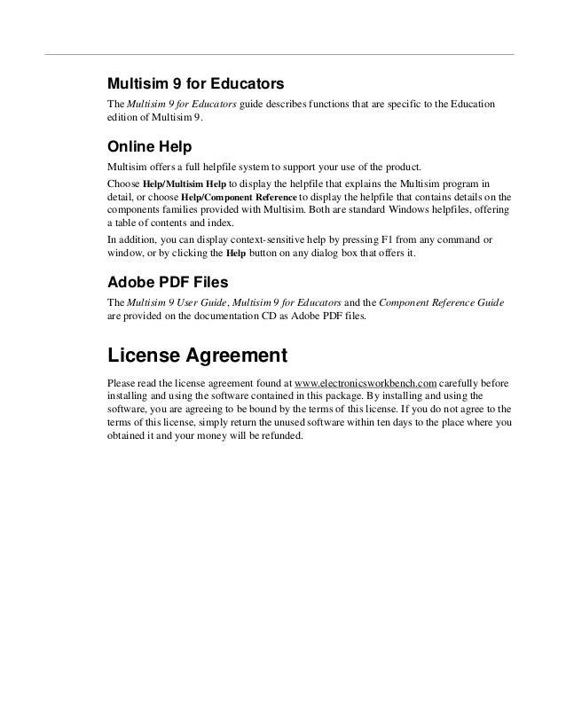 multisim 9 for educators rh slideshare net multisim user manual multisim 2001 user guide