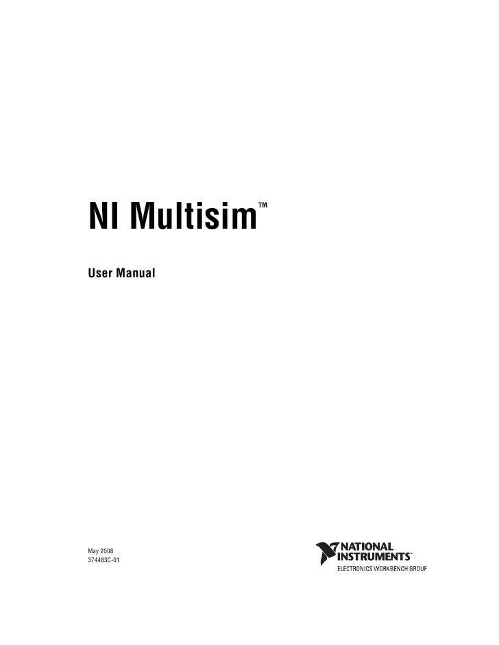 multisim user manual rh slideshare net multisim user guide 2012 Multisim Logo