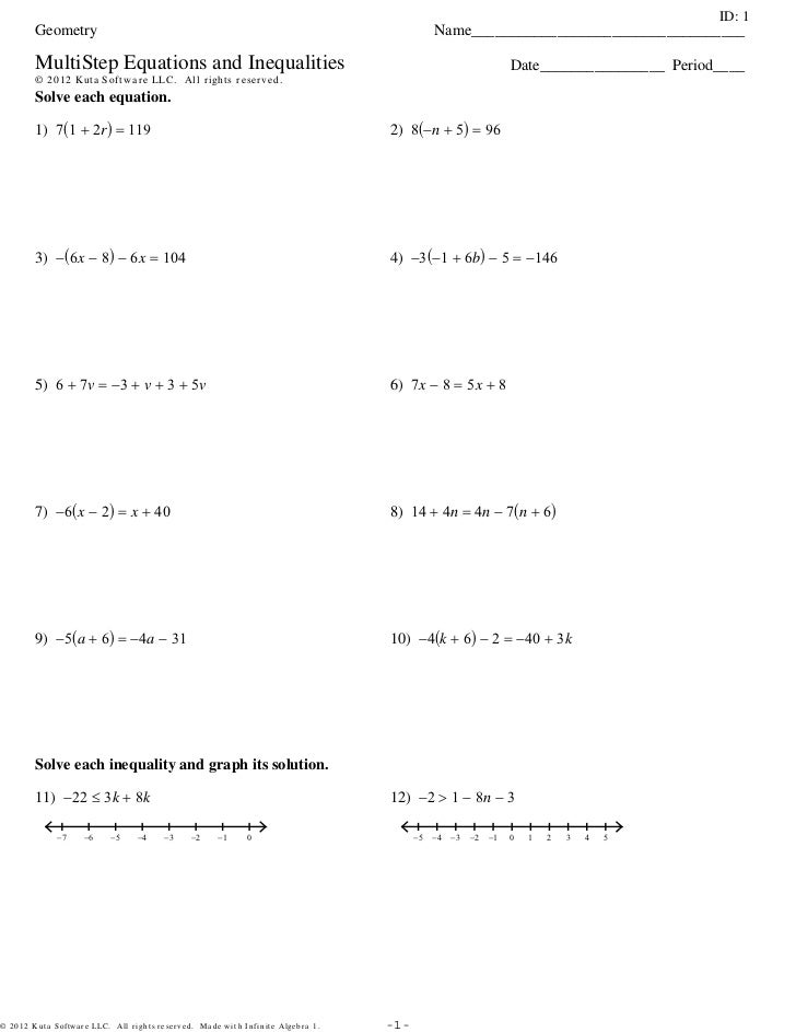 MultiStep Equations and Inequalities - 3Sets.pdf. ID: 1 Geometry .