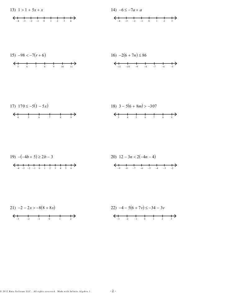 Printable Worksheets compound inequality worksheets : Generous Kuta Software Infinite Algebra 1 Compound Inequalities ...