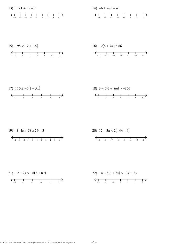 MultiStep Equations and Inequalities 3Setspdf – Graphing Inequalities Worksheet Pdf