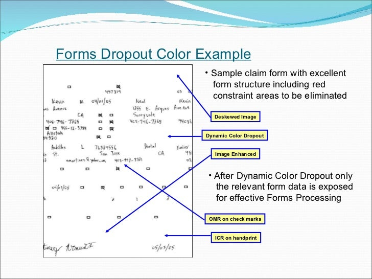 Multistream and Dropout Color Forms Processing