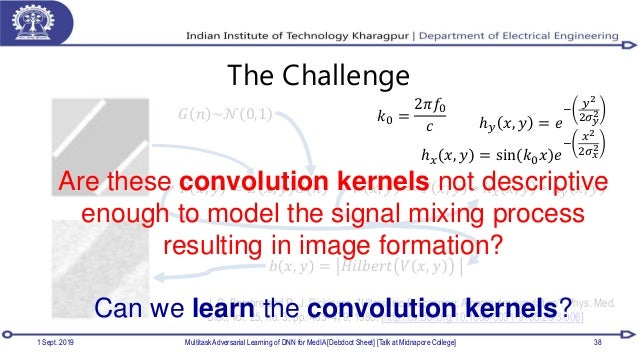 The Challenge 1 Sept. 2019 Multitask Adversarial Learning of DNN for MedIA [Debdoot Sheet] [Talk at Midnapore College] 38 ...