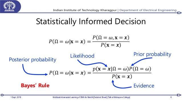 Statistically Informed Decision 1 Sept. 2019 Multitask Adversarial Learning of DNN for MedIA [Debdoot Sheet] [Talk at Midn...