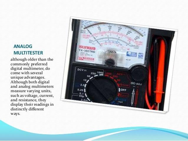Different Types Of Multimeters : Multitester