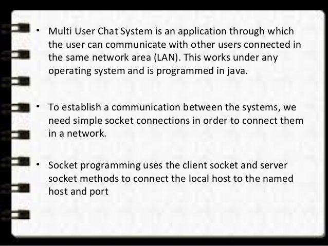 multi user chat system using java multi user chat system using java 2