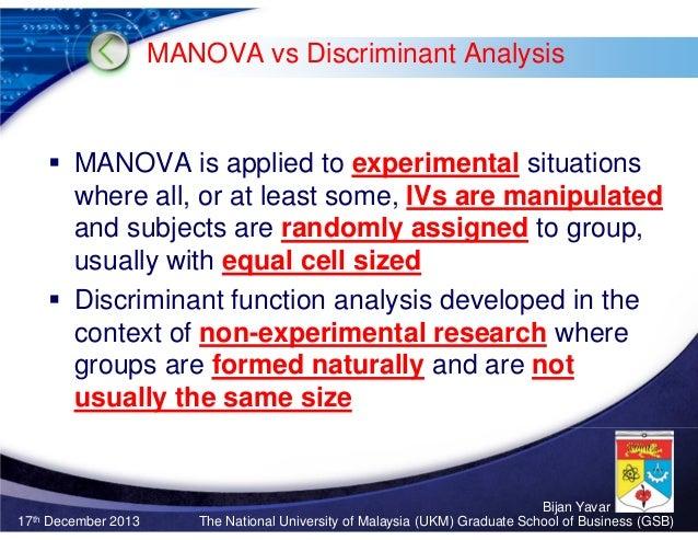 Multivariate Analaysis Of Variance Manova Sharma Chapter 11 Bij