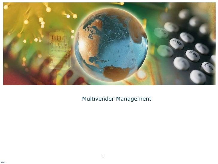 Multivendor Management V6-0