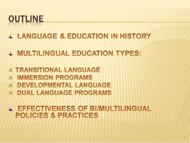 Multilingual education Slide 2