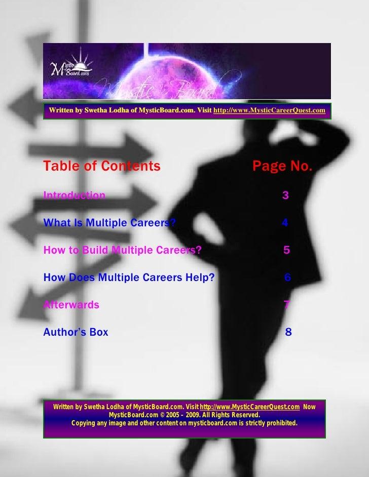 Multple Careers Slide 2