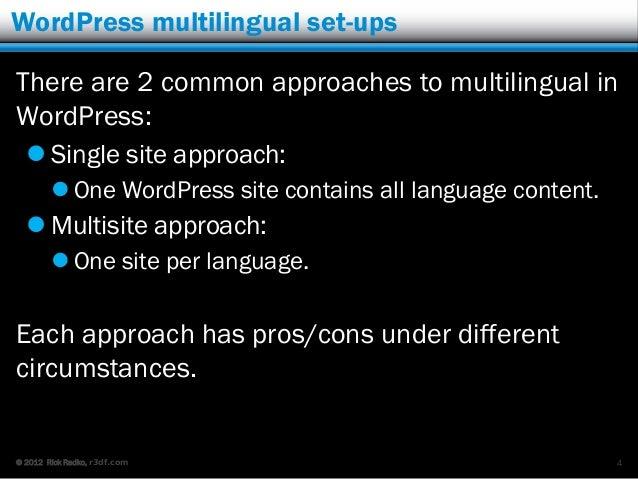 Multisite for multilingual slideshare - 웹