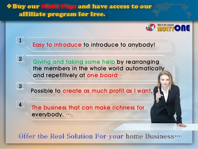 ❖Buy our Multi Page and have access to our affiliate program for free. Easy to introduce to introduce to anybody! Giving a...
