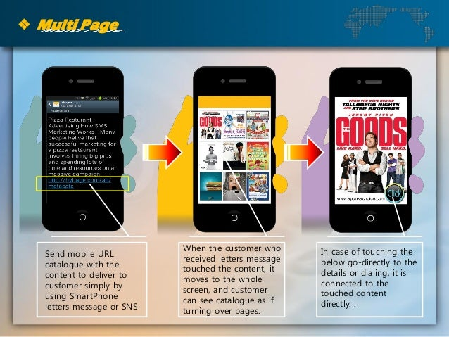 ❖ Multi Page . When the customer who received letters message touched the content, it moves to the whole screen, and custo...