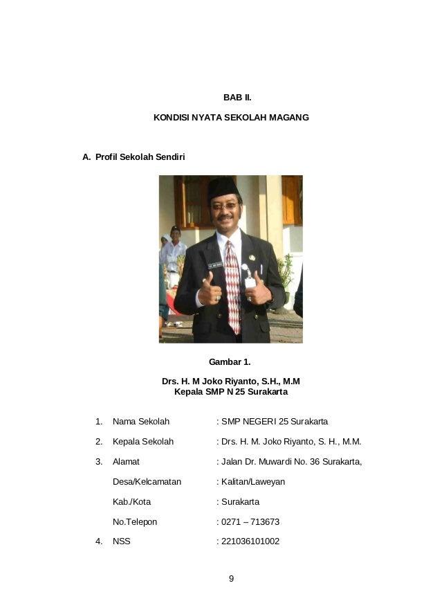 BAB II.                    KONDISI NYATA SEKOLAH MAGANGA. Profil Sekolah Sendiri                                Gambar 1. ...