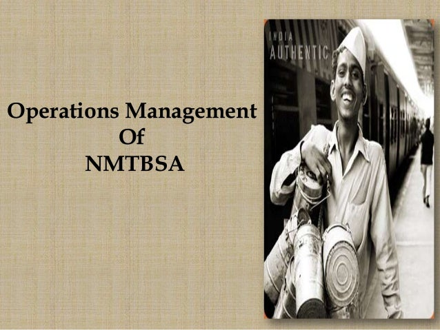 Operations ManagementOfNMTBSA