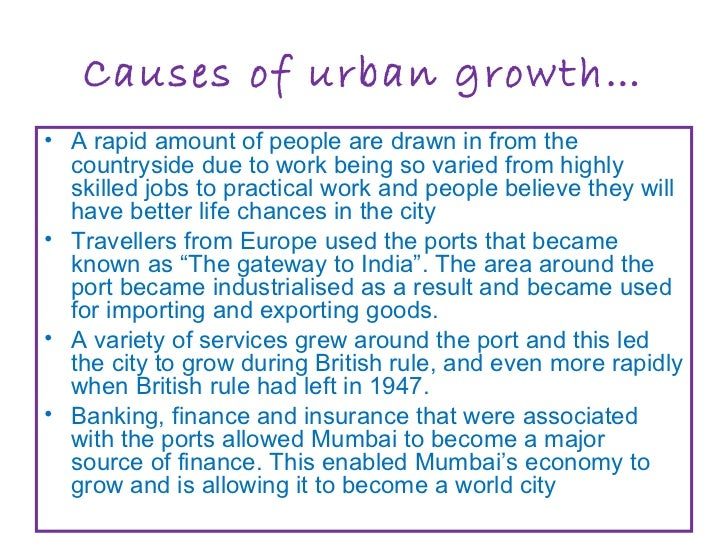 urban growth of cities essay Urbanization and environmental quality: insights from ghana role of urban growth and urbanization in developing even as city growth brings some negative.