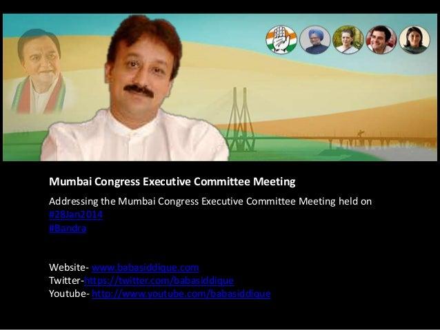 Mumbai Congress Executive Committee Meeting Addressing the Mumbai Congress Executive Committee Meeting held on #28Jan2014 ...