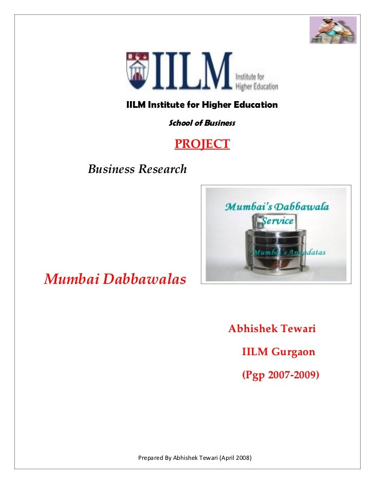 IILM Institute for Higher Education                        School of Business                           PROJECT       Busi...