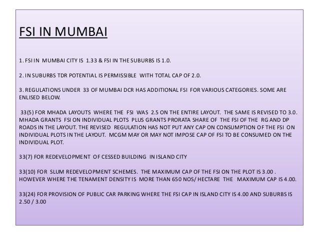Mumbai pdf new dcr rules 2012