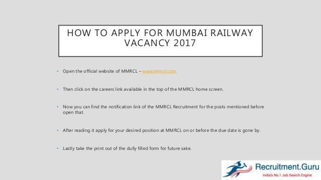 Mumbai Metro Rail Mmrcl Recruitment 2017