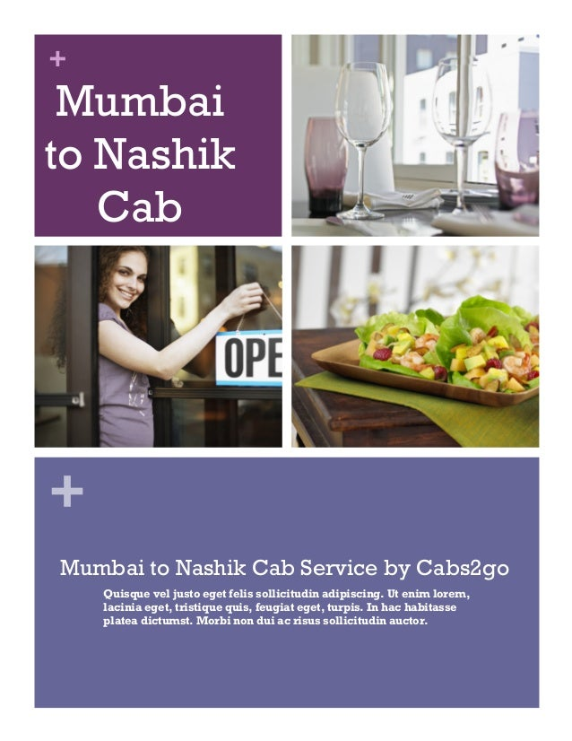 + + Mumbai to Nashik Cab Service Mumbai to Nashik Cab Service by Cabs2go Quisque vel justo eget felis sollicitudin adipisc...