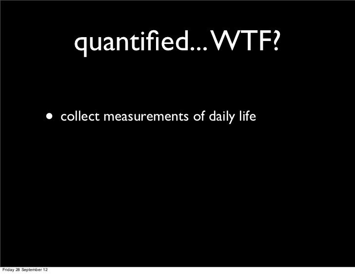 Quantified Self in the Multimedia course. Slide 2