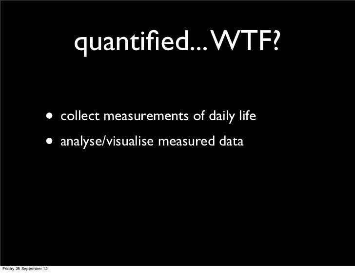 Quantified Self in the Multimedia course. Slide 3