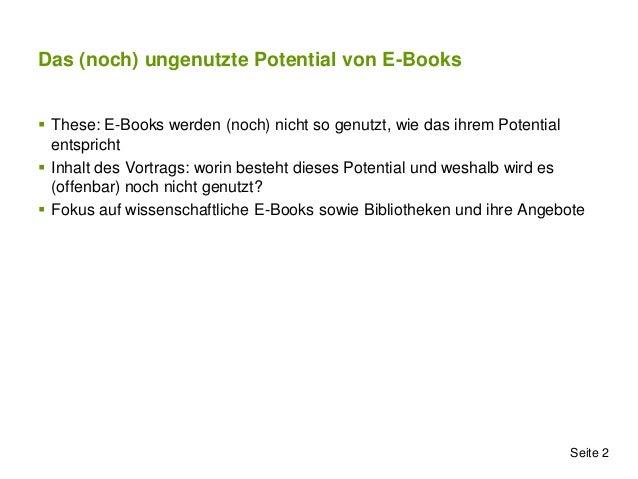 Das (noch) nicht genutzte Potential von E-Books Slide 2