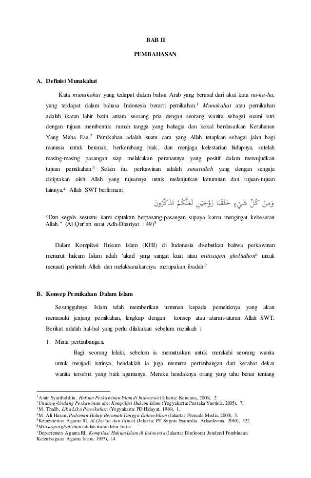 Makalah Munakahat Pernikahan Dalam Islam