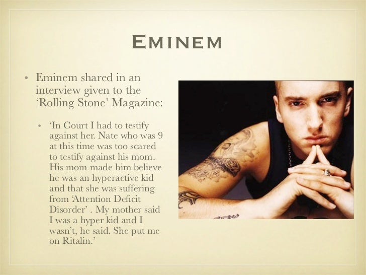 an analysis of the interview with eminem for rolling stone Bob seger in a recent rolling stone interview revealed that he is a fan of eminem, not only as a fellow detroit musician, but as person seger, 69, was.