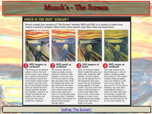 The scream anaylsis