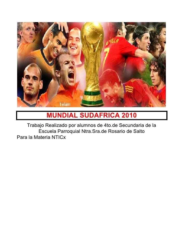 Mundial 2010  Resultado Final