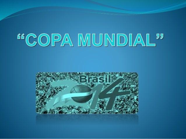 A pocos días del inicio de la Copa Mundial 2014... Se presentará 12 estadios en los que se llevarán a cabo los distintos ...