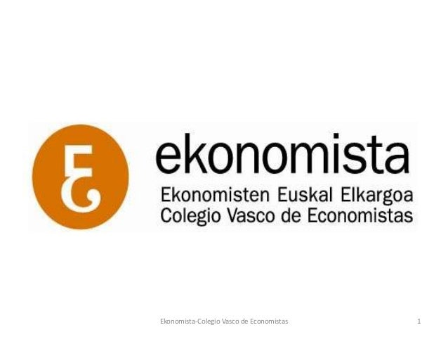 Ekonomista-Colegio Vasco de Economistas   1