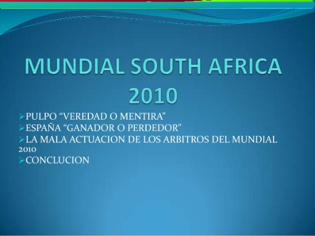Mundial south africa 2010