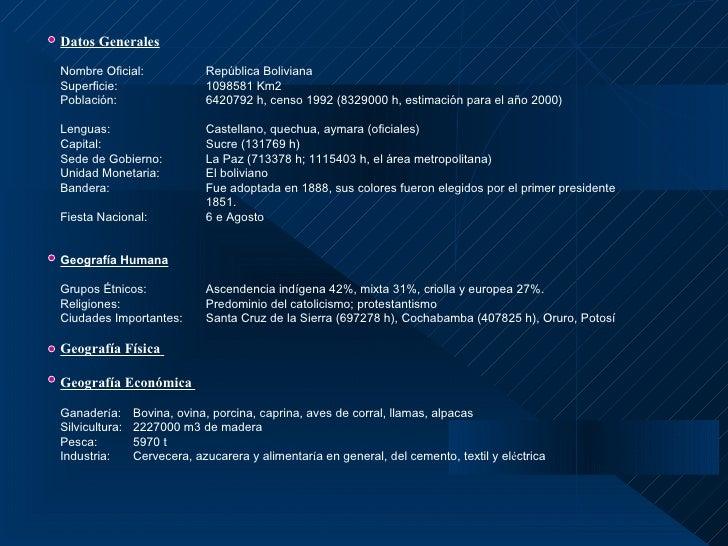 Datos GeneralesNombre Oficial:              República del ecuadorSuperficie:                  272044,6 Km2Población:     ...