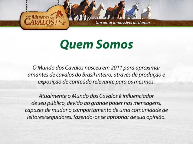 Mundo dos Cavalos - Midia Kit 2014