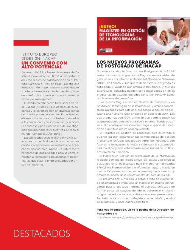 Istituto Europeo di Design-INACAP  Un convenio con alto potencial En junio INACAP, a través de su Área de Diseño & Comunic...