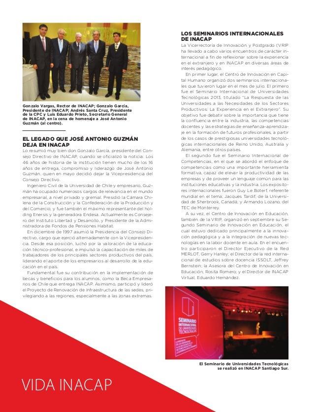 Los seminarios internacionales de INACAP  Gonzalo Vargas, Rector de INACAP; Gonzalo García, Presidente de INACAP; Andrés S...