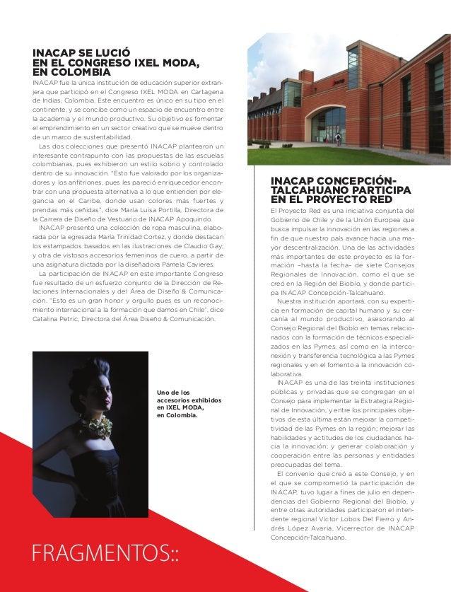INACAP se lució en el Congreso IXEL MODA, en Colombia  INACAP fue la única institución de educación superior extranjera qu...