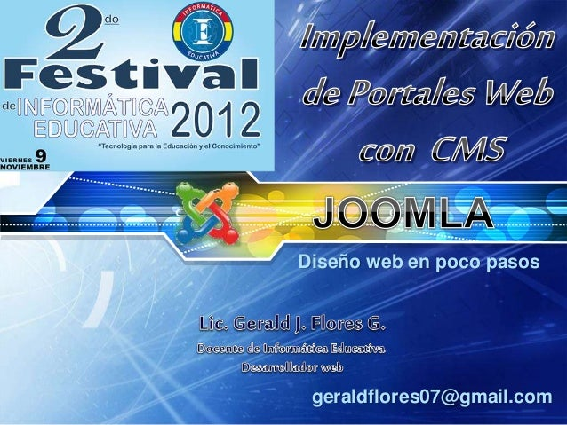 Diseño web en poco pasos geraldflores07@gmail.com