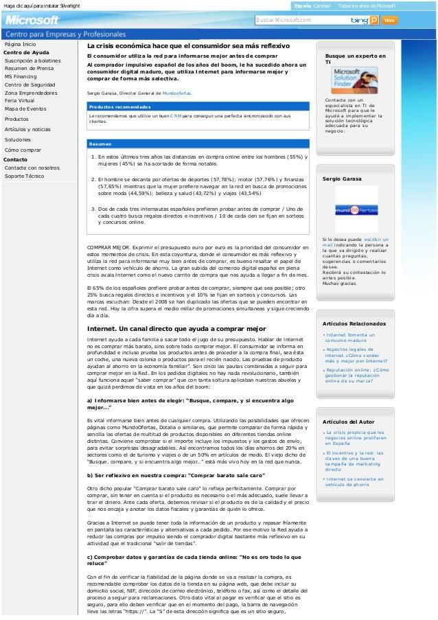 HagaclicaquíparainstalarSilverlight España Cambiar | Todos los sitios de Microsoft  Centro de Ayuda Contacto Página...
