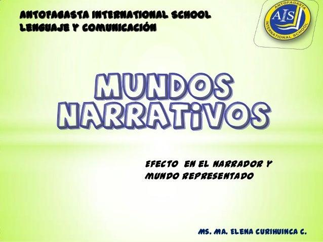 ANTOFAGASTA INTERNATIONAL SCHOOLLenguaje y comunicación                    Efecto en el narrador y                    mund...