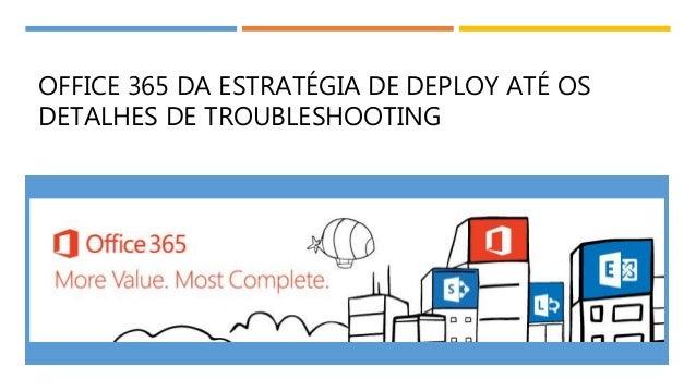 OFFICE 365 DA ESTRATÉGIA DE DEPLOY ATÉ OS DETALHES DE TROUBLESHOOTING