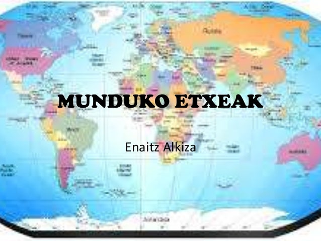 MUNDUKO ETXEAK Enaitz Alkiza