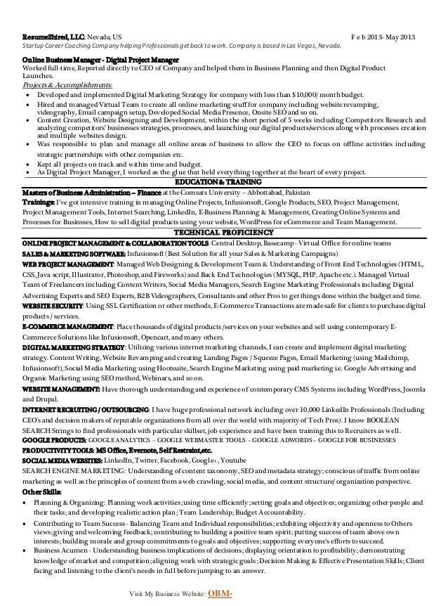 marketing resume sample pdf - Gidiye.redformapolitica.co