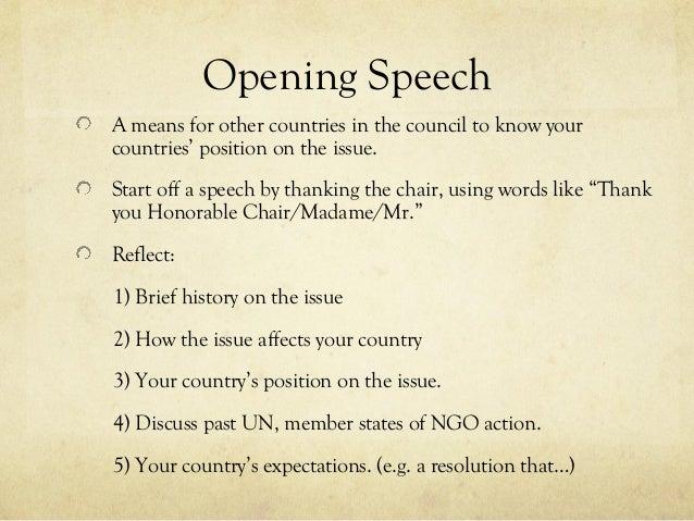 Student Congress Debate/Speech Structure