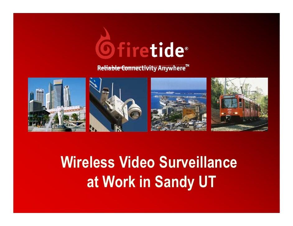 Wireless Video Surveillance     at Work in Sandy UT                               1